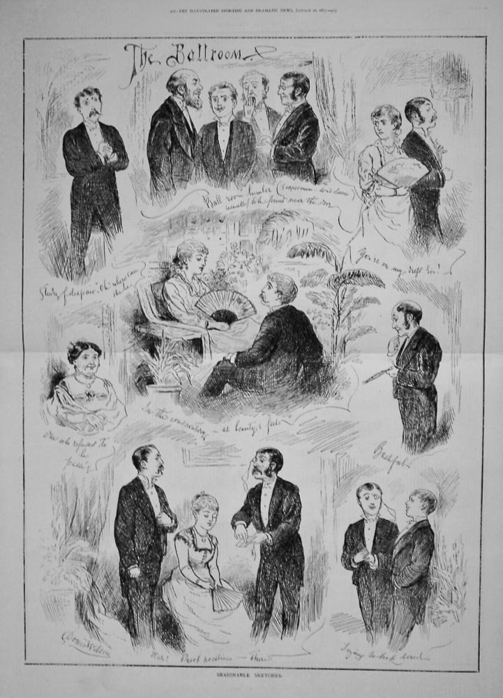 Seasonable Sketches.- The Ballroom. 1877