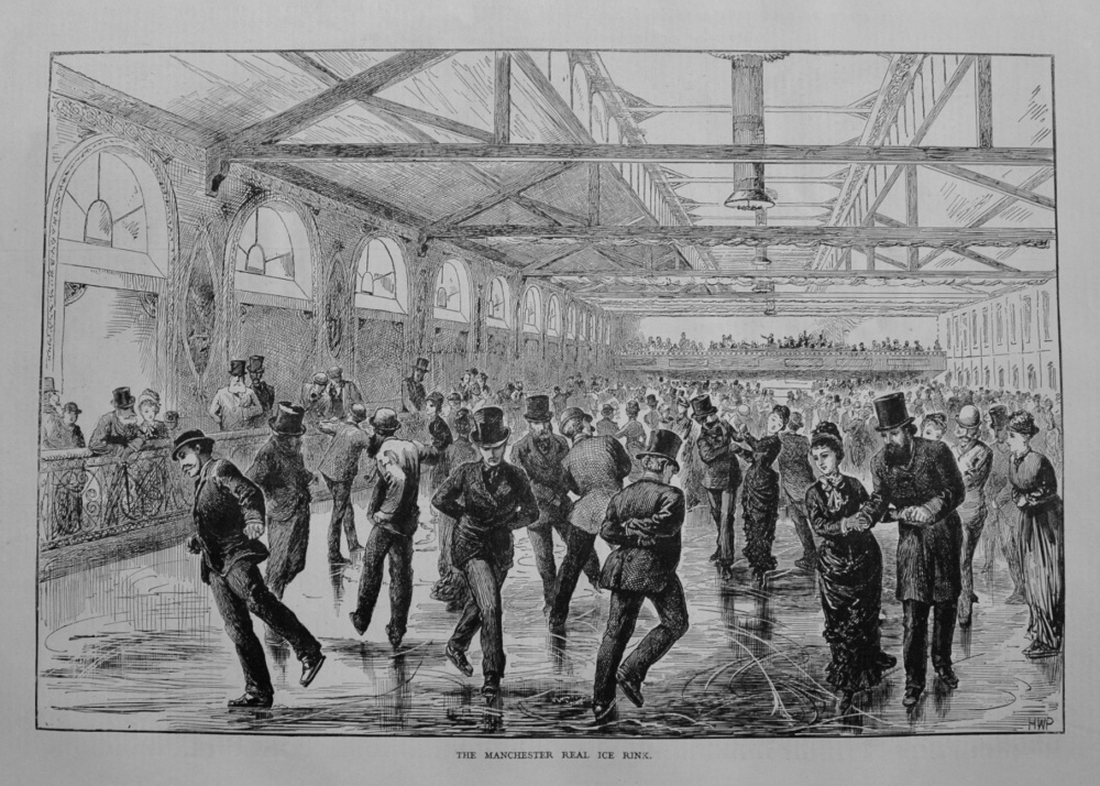 The Manchester Real Ice Rink. 1877