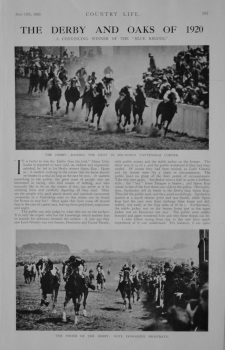 Horse Racing Articles 1920-21.
