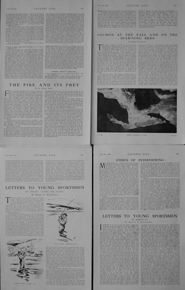 Fishing Articles. 1920-21.