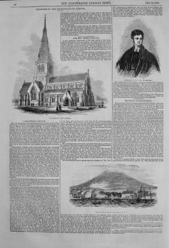 Camberwell Church. The Rev. Henry Melvill. Eruption of Mount Etna. 1844.
