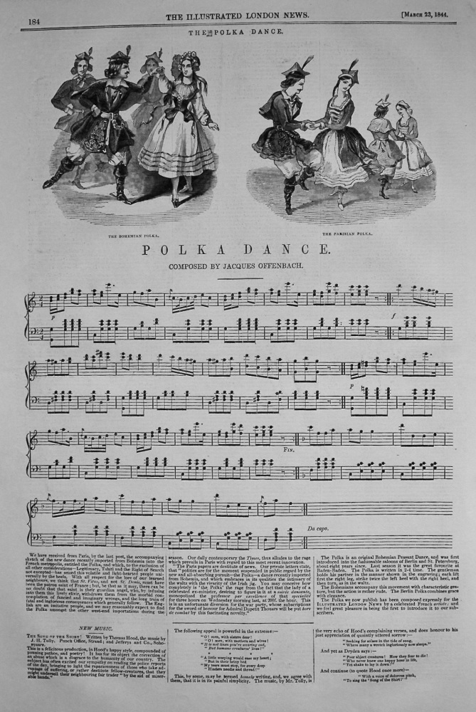 Polka Dance. Composed by Jacques Offenbach. 1844
