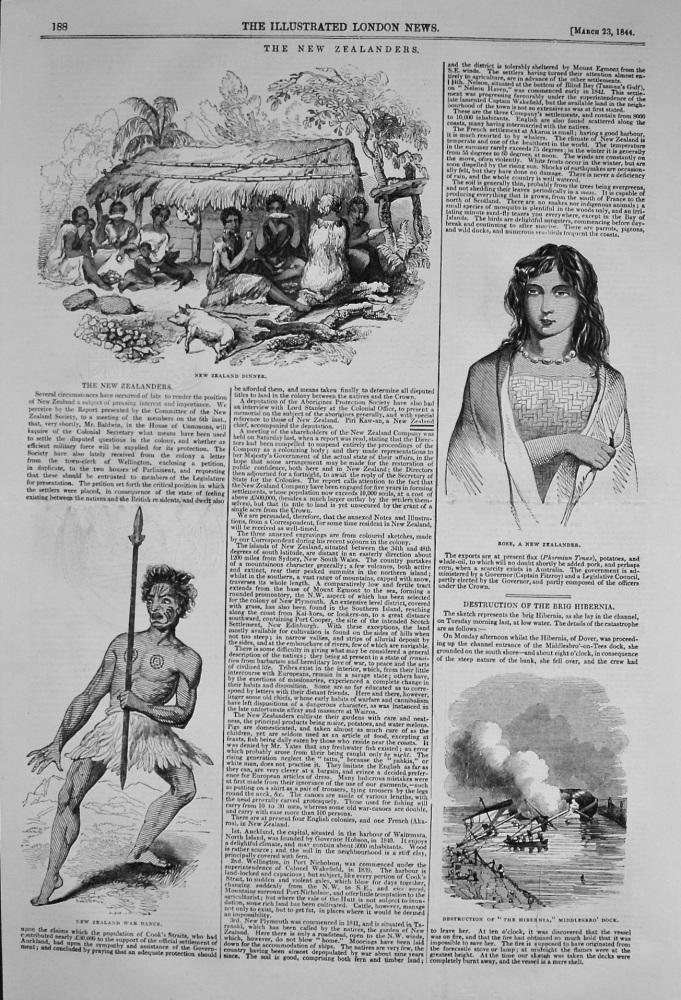 The New Zealanders. 1844