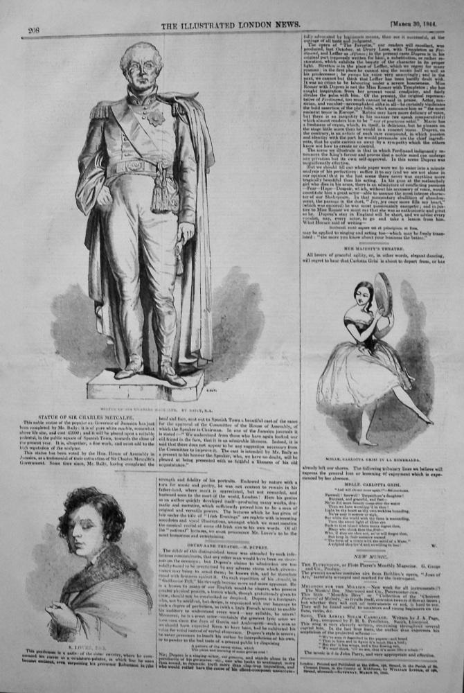 Statue of Sir Charles Metcalfe. 1844
