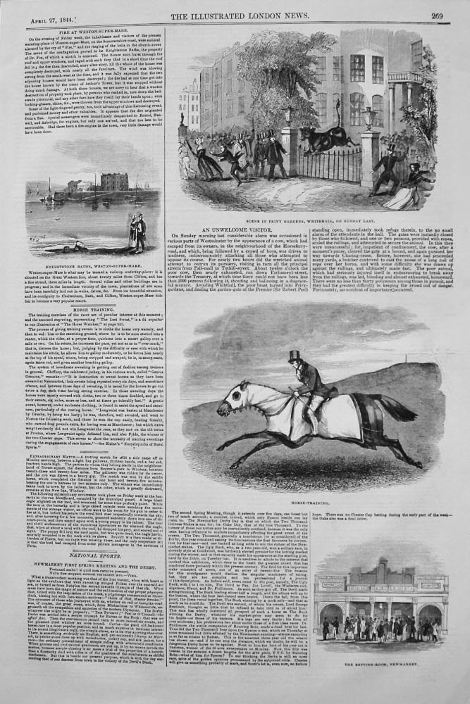 Fire at Weston-Super-Mare. 1844