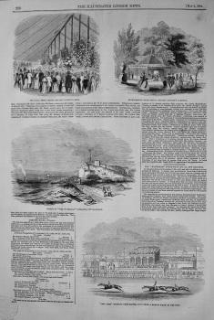 """Wreck of """"The Waterman"""" Steamer off Hastings. 1844"""