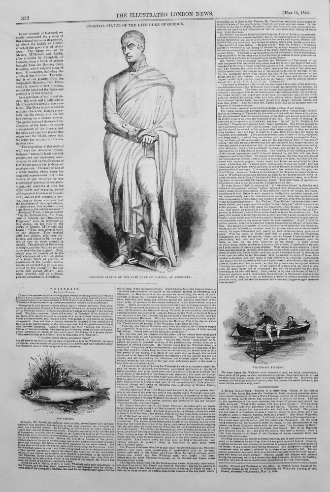 Colossal Statue of the Late Duke of Gordon. 1844