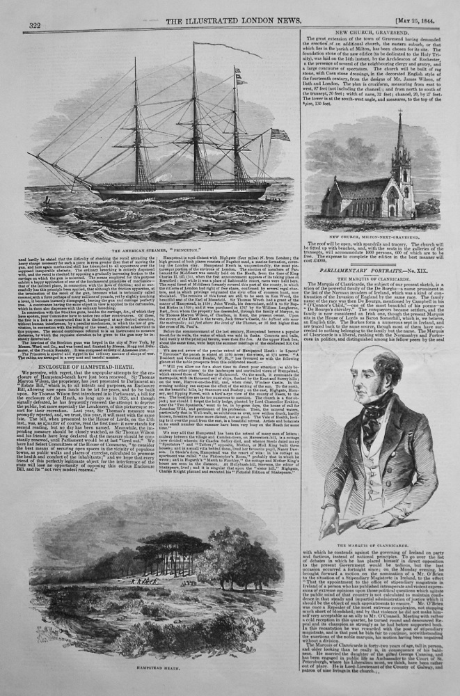 "American Steam-Frigate ""Princeton."" 1844"