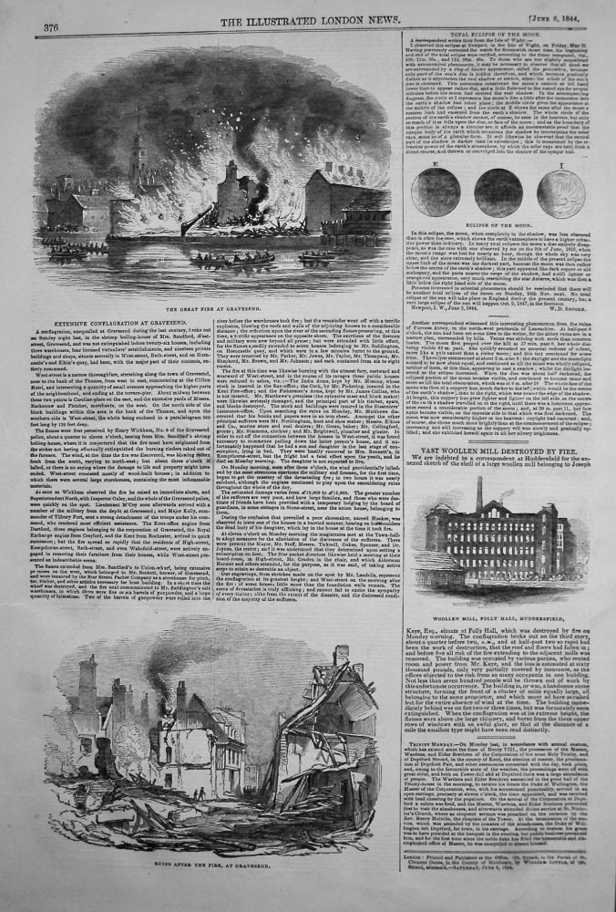 Extensive Conflagration at Gravesend. 1844