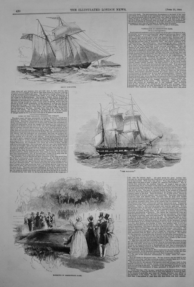 Loss of the Saladin.- Suspected Piracy. 1844