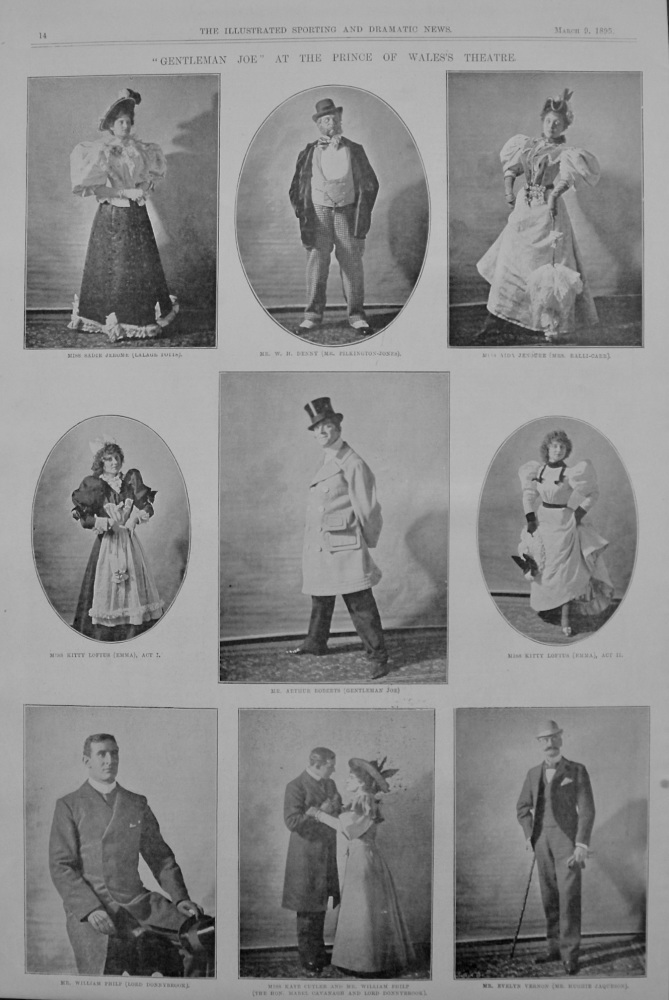 """Gentleman Joe"" at the Prince of Wales's Theatre. 1895"