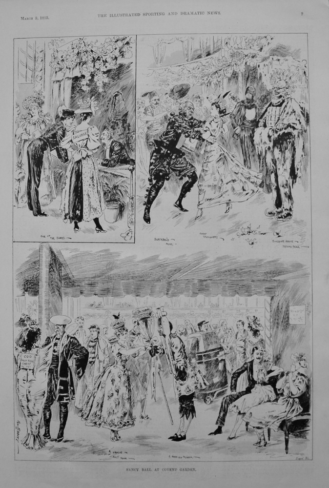 Fancy Ball at Covent Garden. 1895