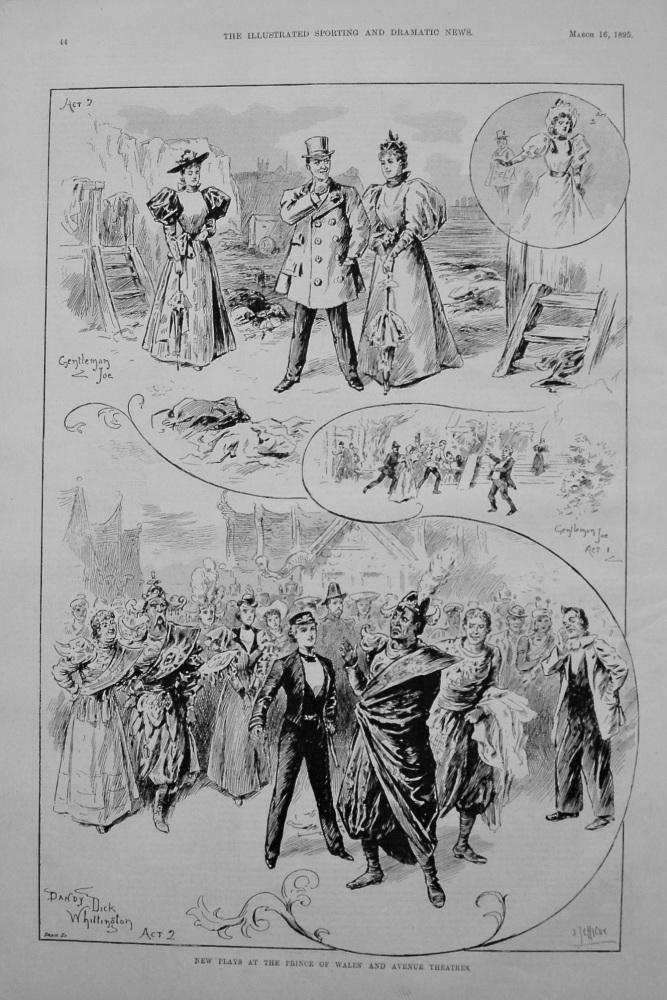 New Plays at the Prince of Wales' and Avenue Theatres. 1895