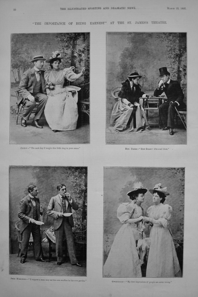 """The Importance of Being Earnest"" at the St. James's Theatre. 1895"