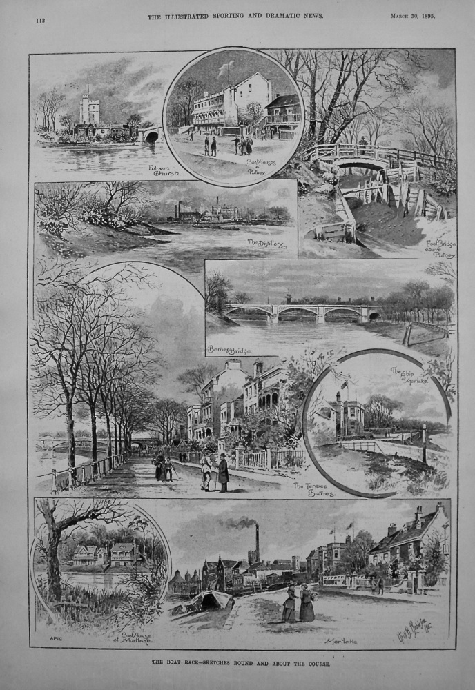 The Boat Race - Sketches Round and About the Course. 1895