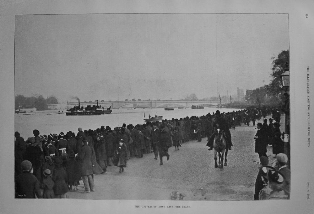 University Boat Race - The Start. 1895