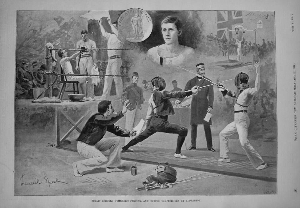 Public Schools Gymnastic Fencing, and Boxing Competitions at Aldershot. 1895