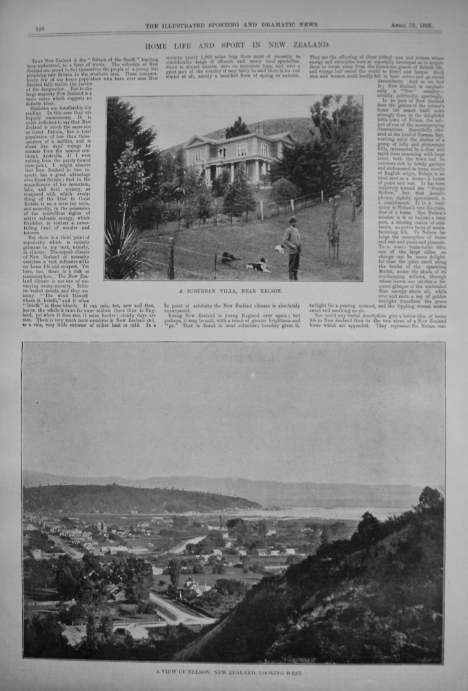 Home Life and Sport in New Zealand. 1895
