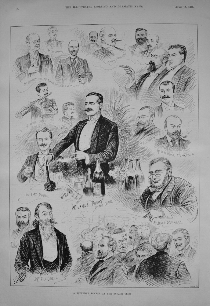 A Saturday Dinner at the Savage Club. 1895