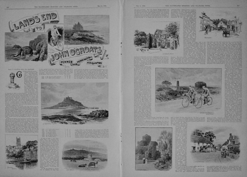 Land's End to John O'Groats Penned and Pencilled by A.R. Quinton. (Part 1.- Land's End to Exeter.) 1895