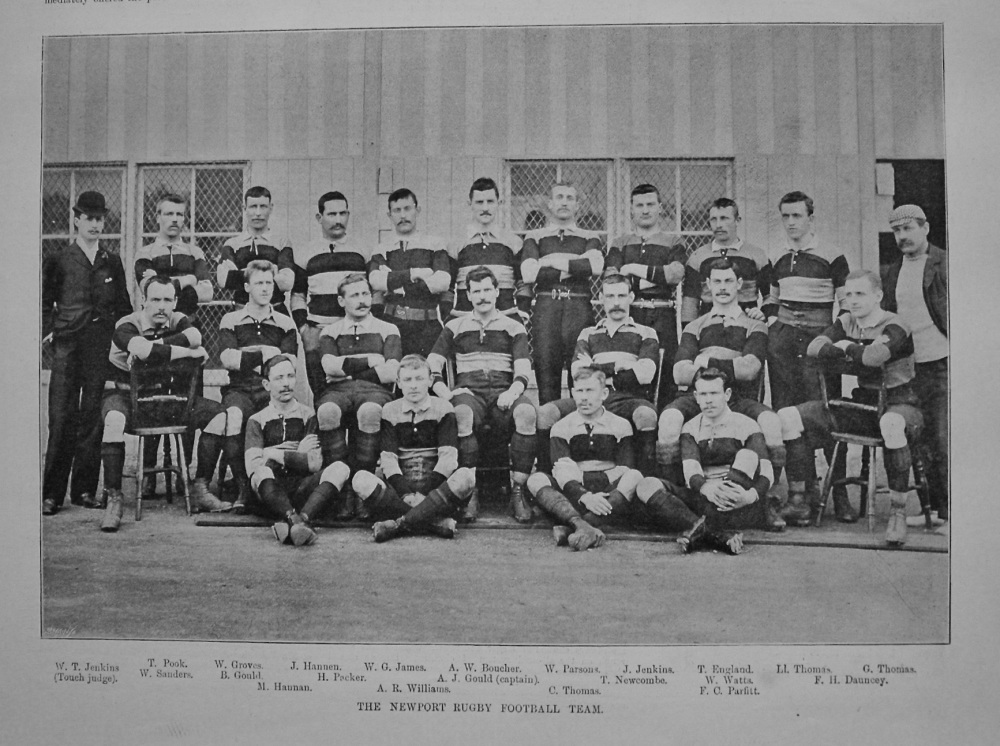 Newport Rugby Football Team. 1895