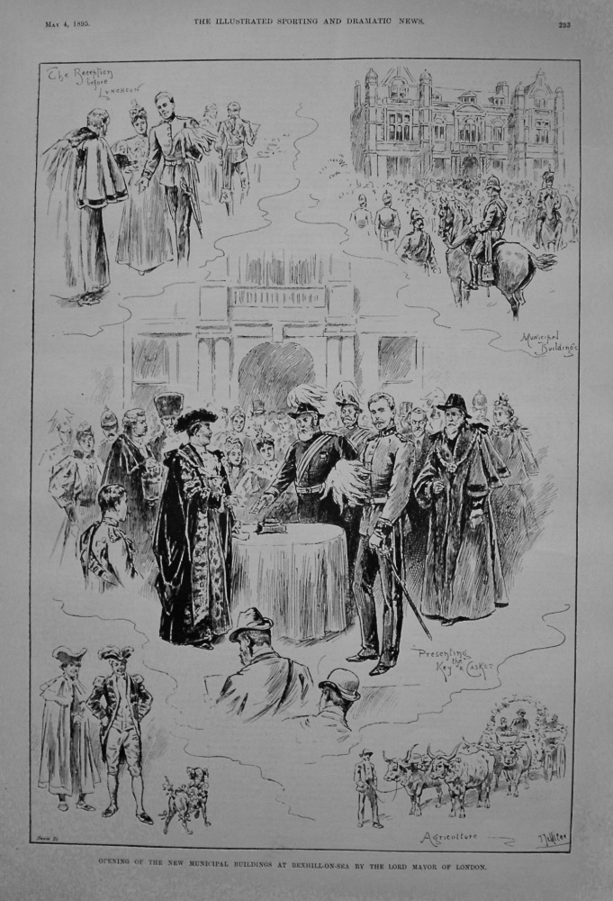 Opening of the New Municipal Buildings at Bexhill-on-Sea by the Lord Mayor of London. 1895