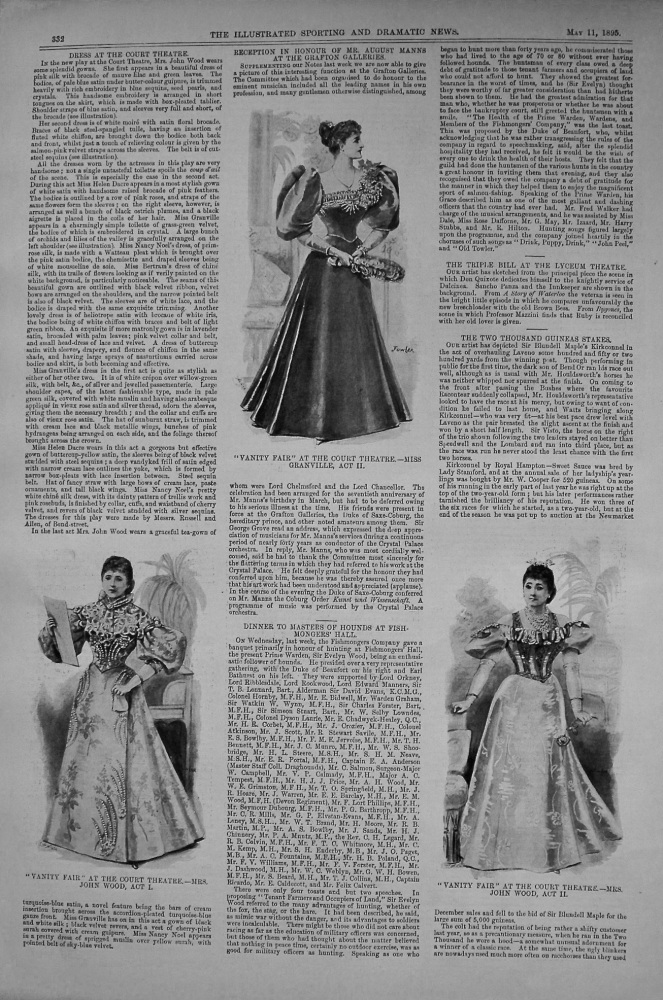 Dress at the Court Theatre. 1895