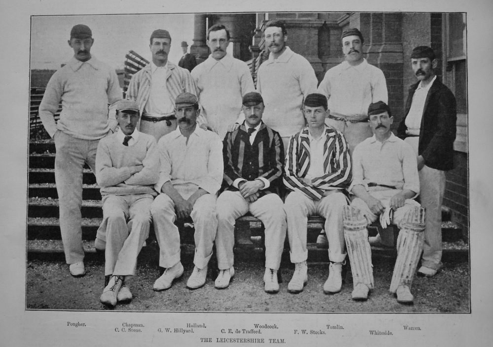 Leicestershire Cricket Team. 1895