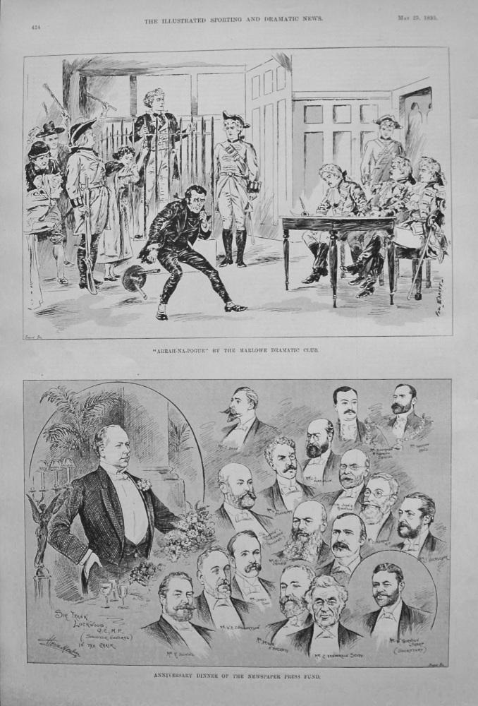 """Arrah-Na-Pogue"" by the Marlowe Dramatic Club. 1895"
