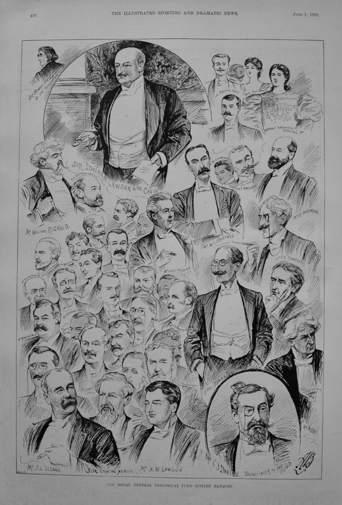 Royal General Theatrical Fund Jubilee Banquet. 1895