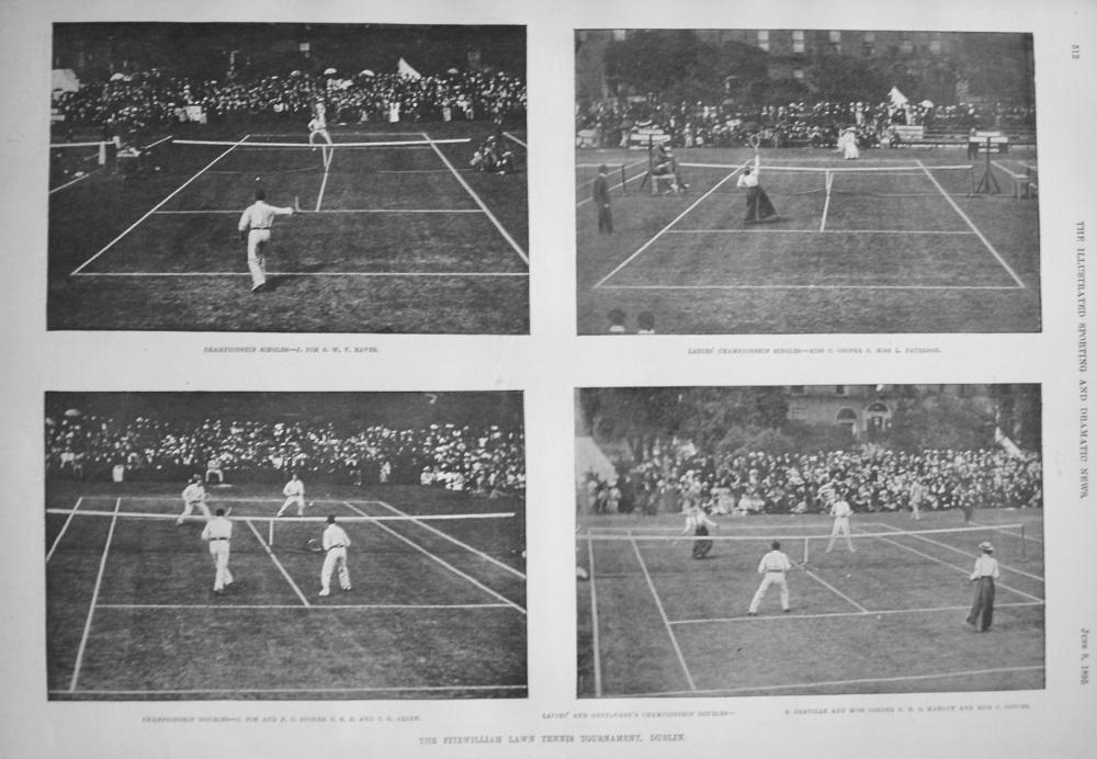 Fitzwilliam Lawn Tennis Tournament. Dublin. 1895