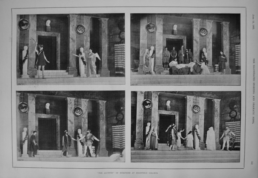"""""""The Alcestis"""" of Euripides at Bradfield College. 1895"""