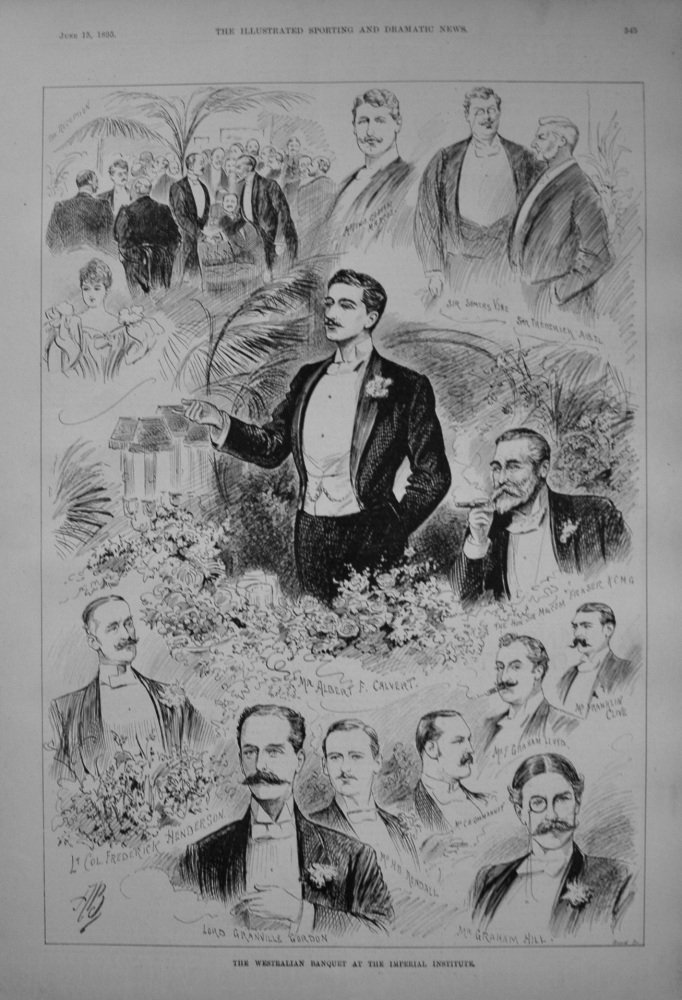 The Westralian Banquet at the Imperial Institute. 1895