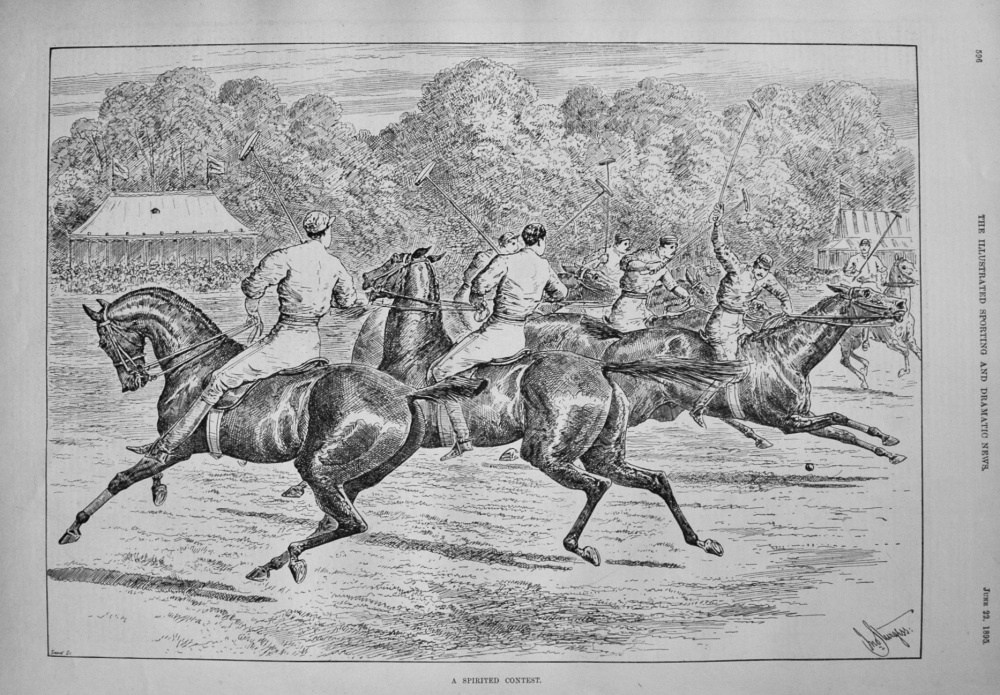 A Spirited Contest. 1895
