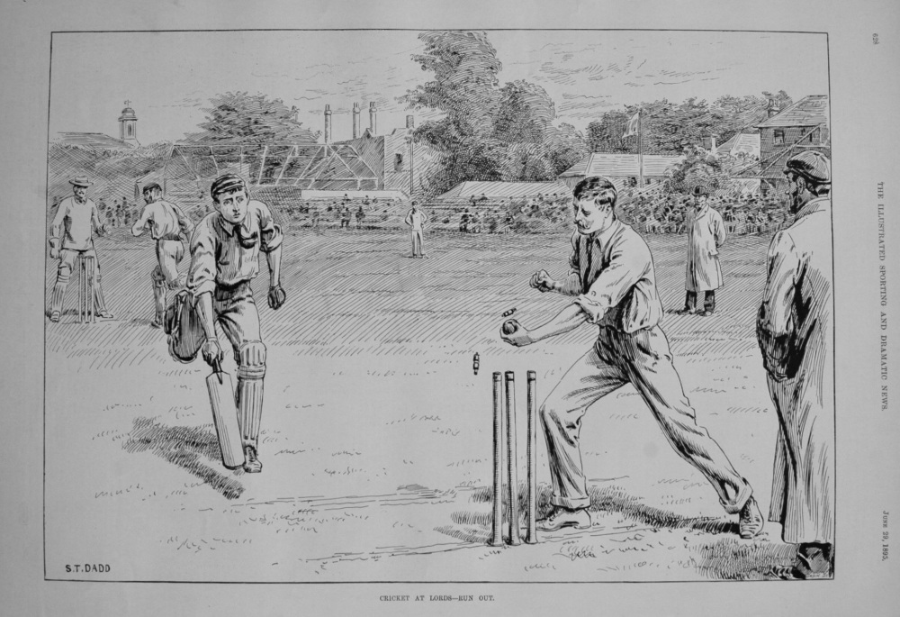 Cricket at Lords - Run Out. 1895