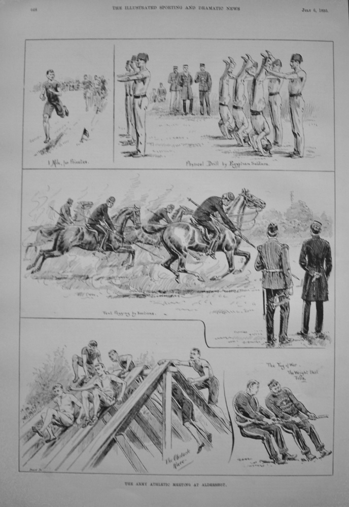 Army Athletic Meeting at Aldershot. 1895