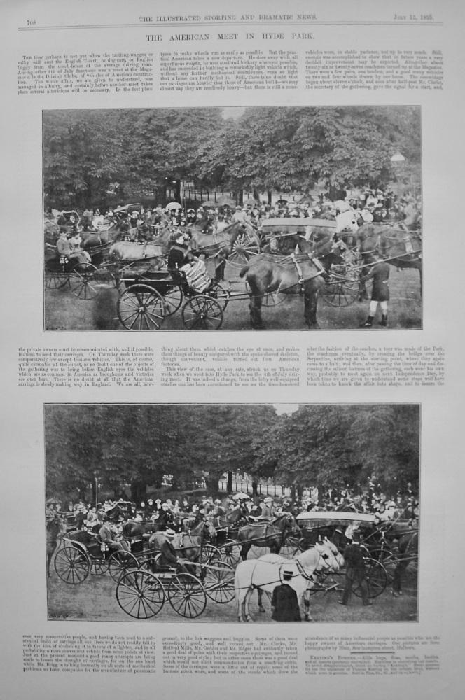 American Meet in Hyde Park. 1895.
