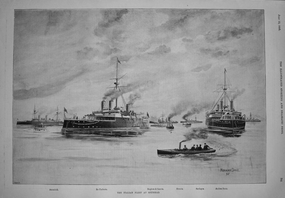 Italian Fleet at Spithead. 1895