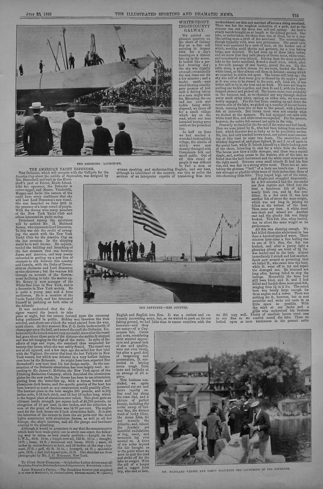 "American Yacht ""Defender."" 1895"