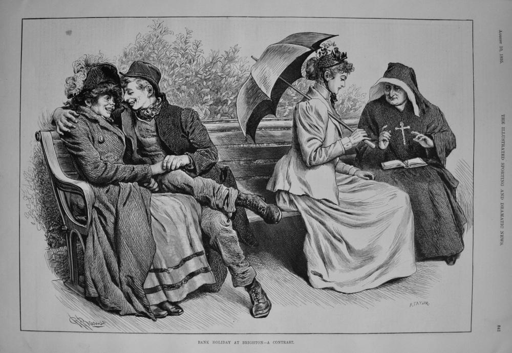 Bank Holiday at Brighton - A Contrast. 1895