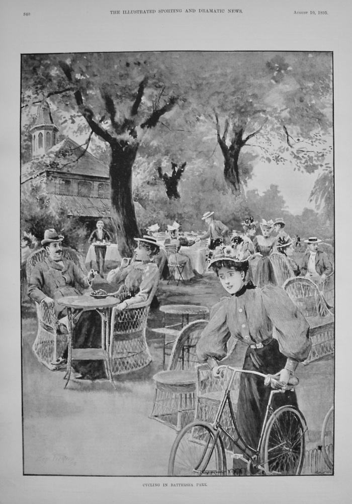 Cycling in Battersea Park. 1895