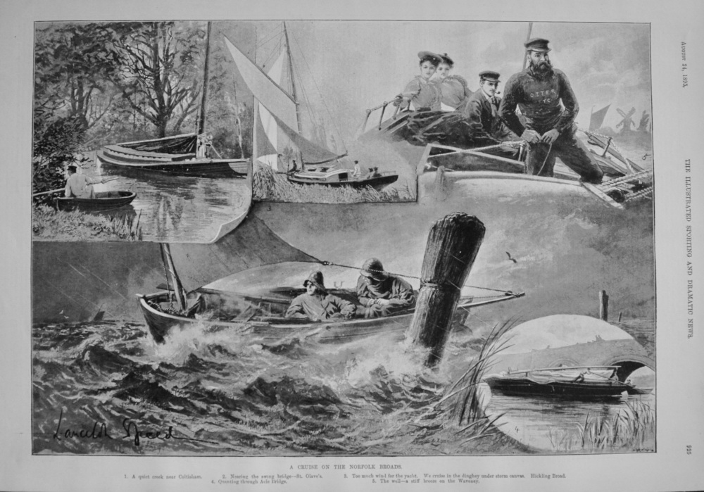 A Cruise on the Norfolk Broads. 1895