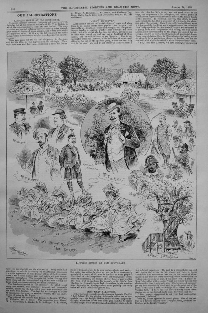 Lipton's Sports at Old Southgate. 1895