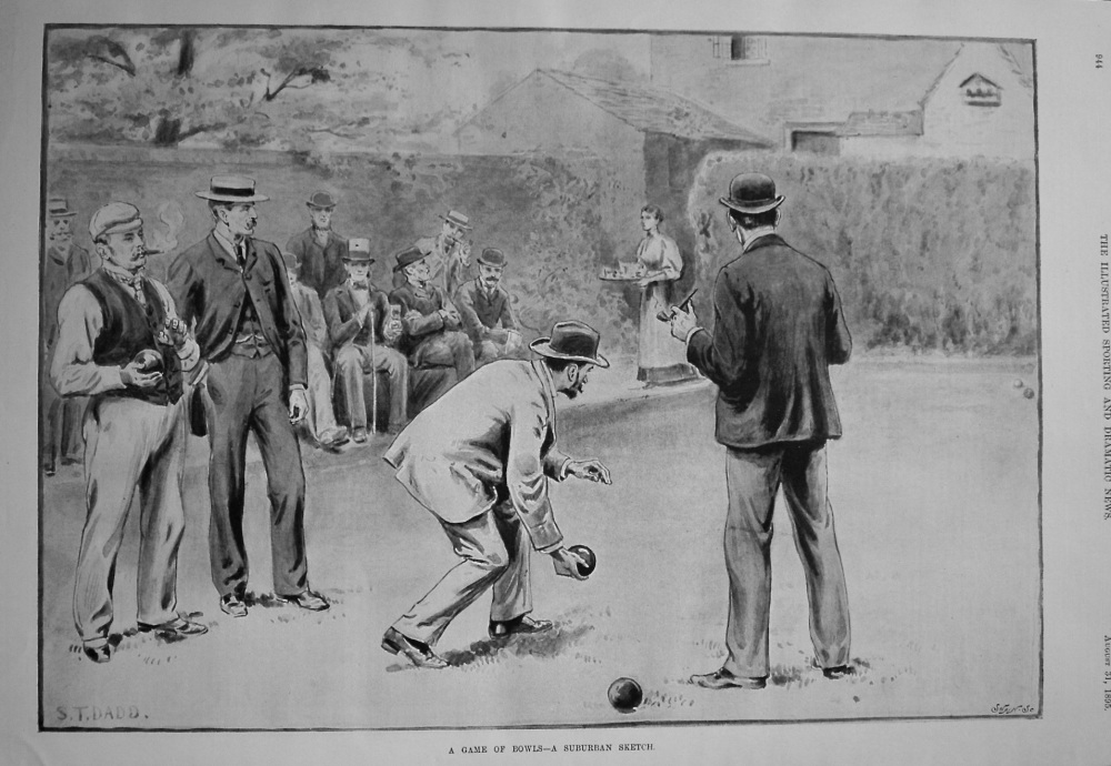 A Game of Bowls - A Suburban Sketch. 1895