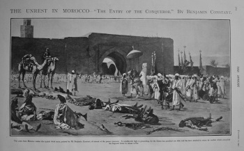 """Unrest in Morocco - """"The Entry of the Conqueror."""" By Benjamin Constant. 1902"""