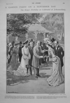 A Garden Party on a November Day - The King's Birthday as Celebrated at Johannesburg. 1902