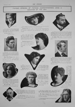 Famous Opinions of Famous Contemporaries Upon a Question of the Day. (ODOL) 1902