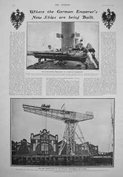 Where the German Emperor's New Ships are being Built. 1902