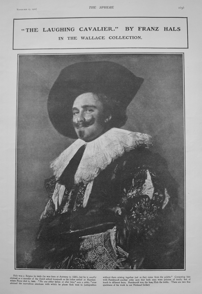 """""""The Laughing Cavalier."""" By Franz Hals. (In the Wallace Collection) 1902"""