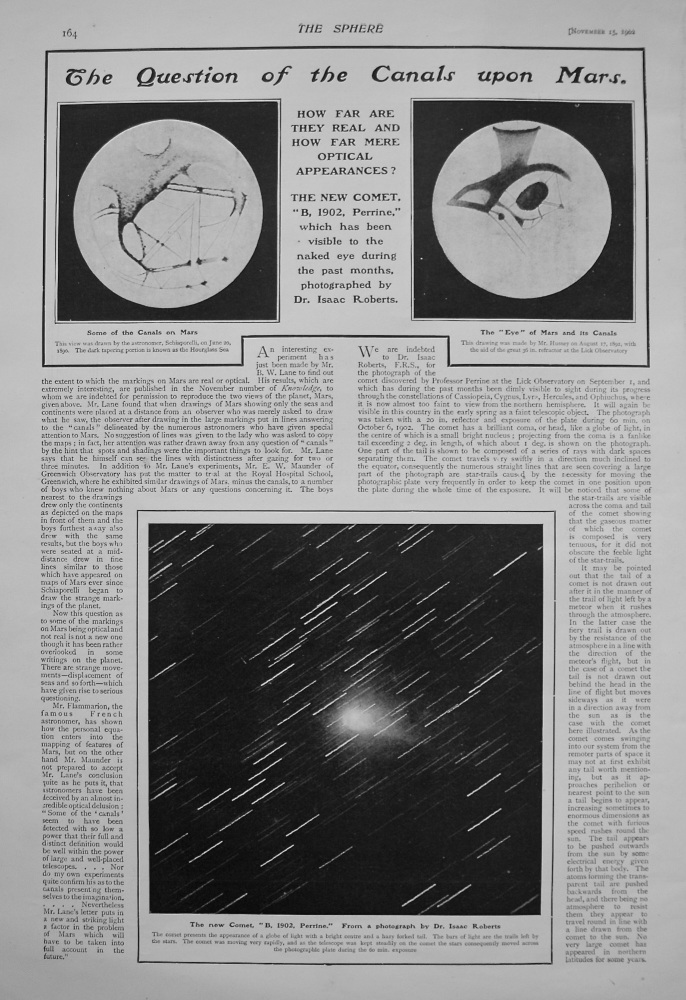 The Question of the Canals upon Mars. 1902